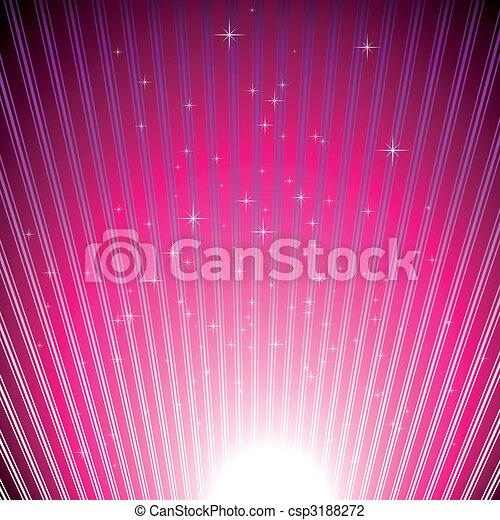 scoppio, luce, sfavillante, stelle, magenta, baluginante - csp3188272