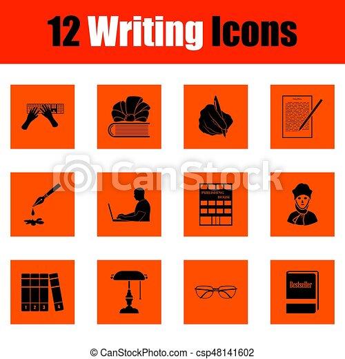 scrittura, set, icone - csp48141602