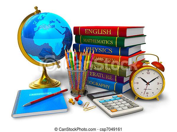 scuola, concetto, educazione, indietro - csp7049161