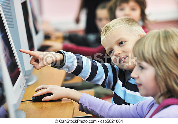 scuola, educazione, esso, bambini - csp5021064