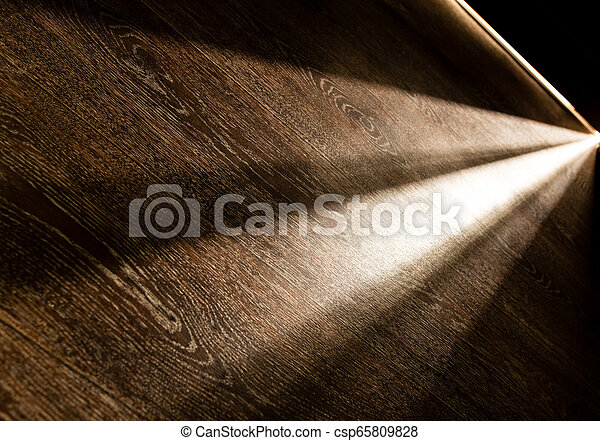 scuro, raggi luminosi, porta, stanza - csp65809828