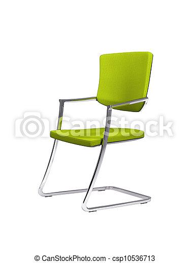 sedia, verde bianco, isolato - csp10536713