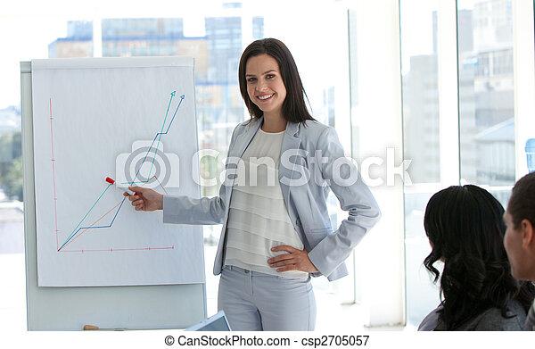 segnalazione, figure vendite, donna d'affari - csp2705057