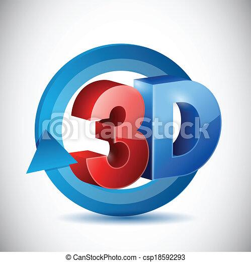 segno, disegno, 3d, illustrazione, ciclo - csp18592293