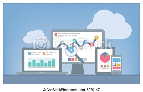 seo, web, concetto, analytics - csp16979147