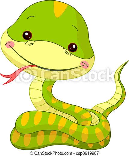 serpente, divertimento, zoo. - csp8619987