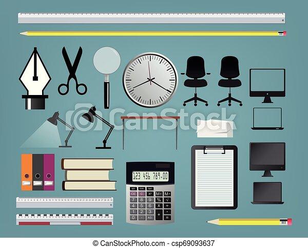 set, accessori, ufficio - csp69093637