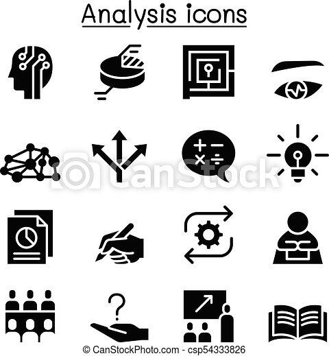 set, analisi, icona - csp54333826