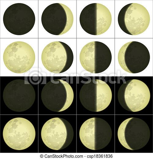 set, fasi, luna - csp18361836