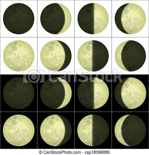 set, fasi, luna - csp18096886