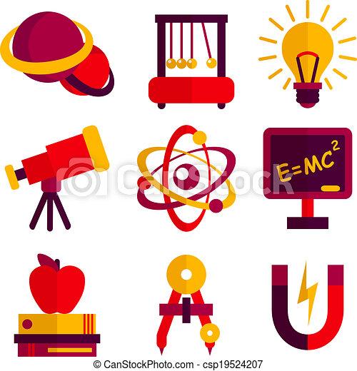 set, fisica, astronomia, icone - csp19524207