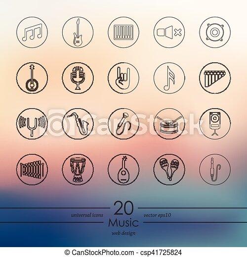 set, musica, icone - csp41725824