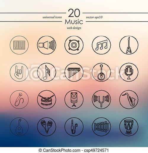 set, musica, icone - csp49724571