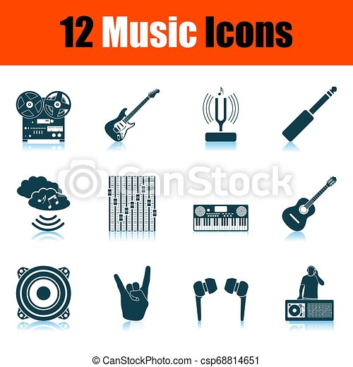 set, musica, icone - csp68814651