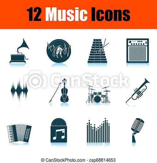 set, musica, icone - csp68814653