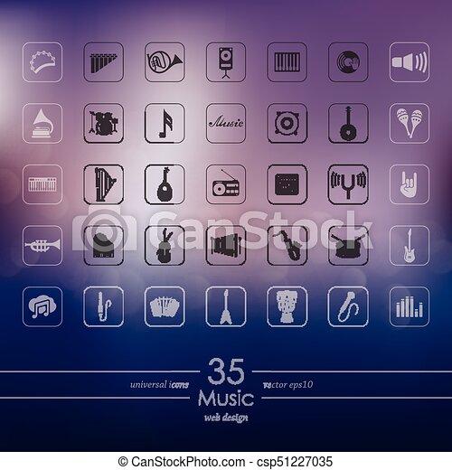 set, musica, icone - csp51227035