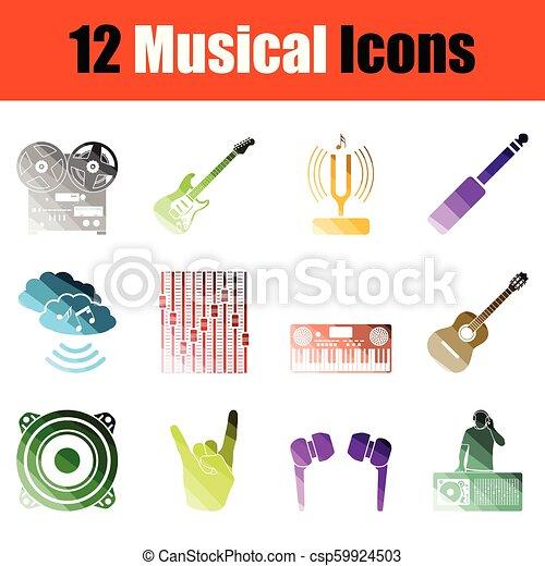 set, musicale, icona - csp59924503