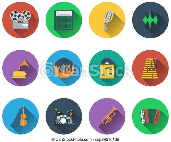set, musicale, icone - csp29510109