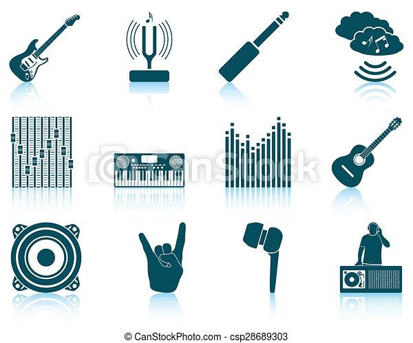 set, musicale, icons. - csp28689303