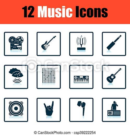 set, musicale, icons. - csp39222254