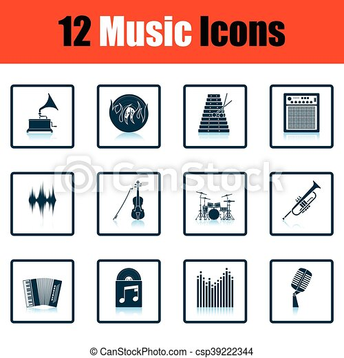 set, musicale, icons. - csp39222344