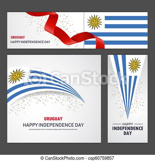 set, uruguay, fondo, bandiera, giorno, indipendenza, felice - csp60759857