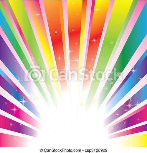 sfavillante, stelle, colorito, fondo, scoppio - csp3128929