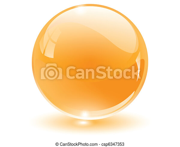 sfera, 3d, cristallo, vetro - csp6347353