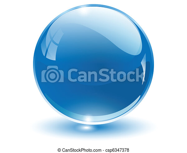 sfera, 3d, cristallo - csp6347378