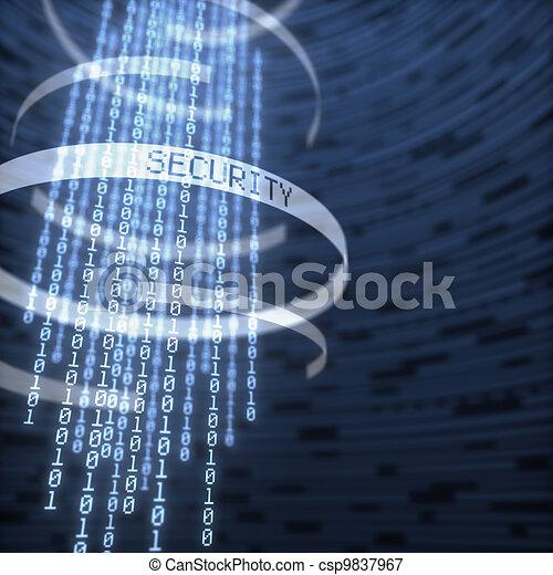 sicurezza, dati, digitale - csp9837967
