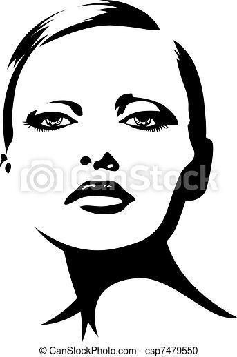 signora, giovane, illustrazione - csp7479550