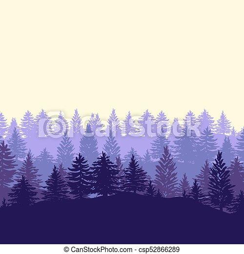 silhouette, albero, foresta, fondo - csp52866289