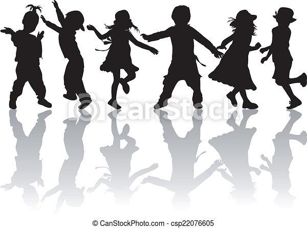 silhouette, bambini - csp22076605