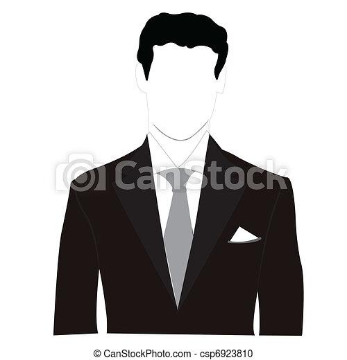 silhouette, uomini, abito nero - csp6923810