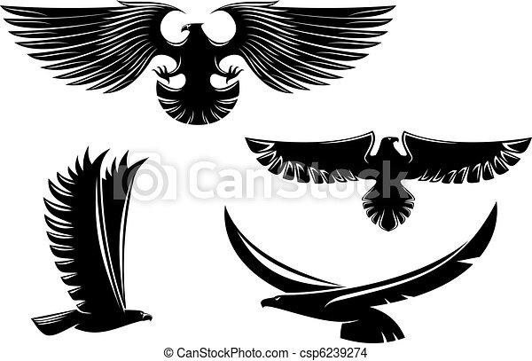 simboli, araldica, aquila, tatuaggio - csp6239274