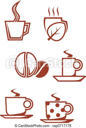 simboli, caffè tè - csp3717179