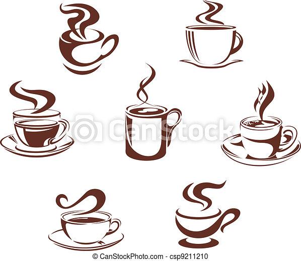 simboli, caffè tè - csp9211210