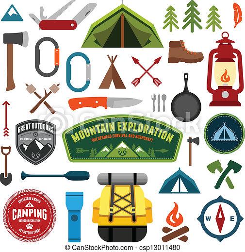 simboli, campeggio - csp13011480