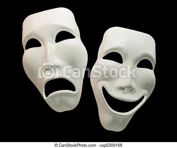 simboli, comedy-theatre, dramma - csp5309168