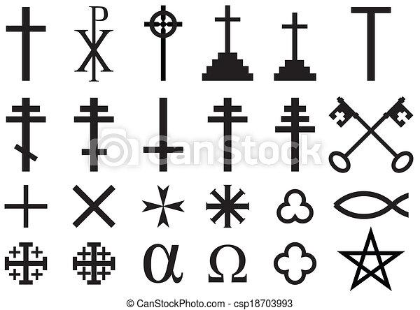 simboli, cristiano, religioso - csp18703993
