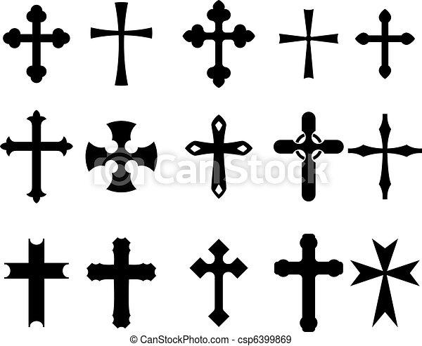 simboli, croce - csp6399869