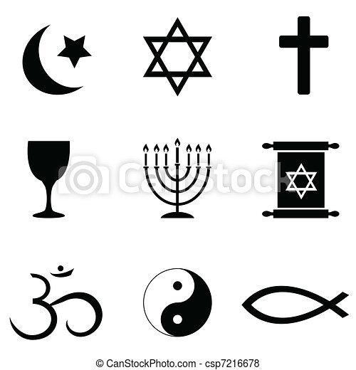 simboli, icone religiose - csp7216678