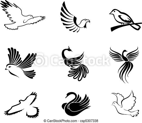 simboli, uccello - csp5307338