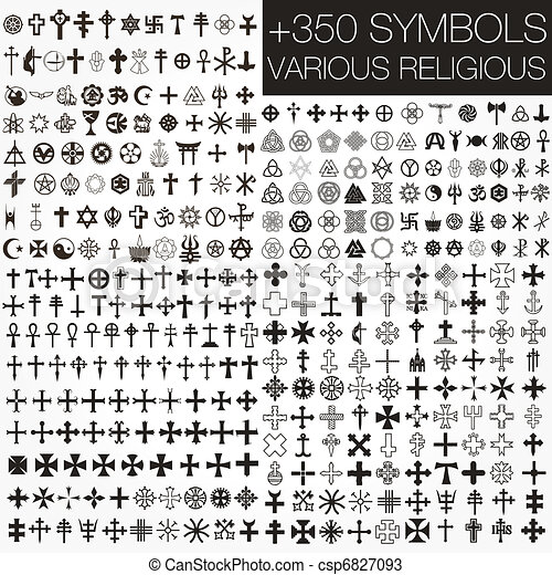 simboli, vario, 350, vettore, religio - csp6827093