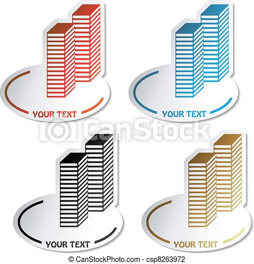 simboli, vettore, grattacielo - csp8263972