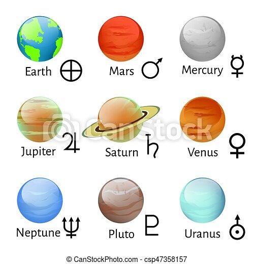 simboli, zodiaco, astrologia - csp47358157