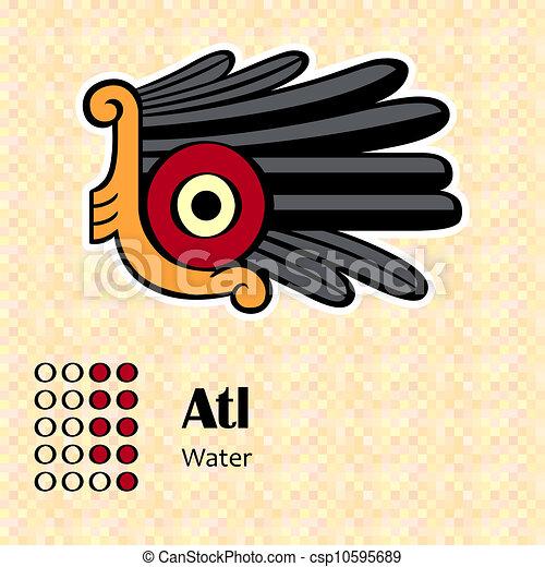simbolo, atl, azteco - csp10595689