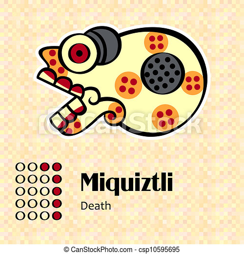 simbolo, azteco, miquiztli - csp10595695