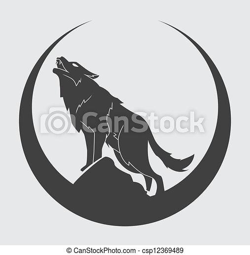 simbolo, lupo - csp12369489