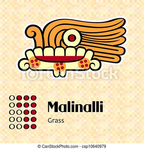 simbolo, malinalli, azteco - csp10640979